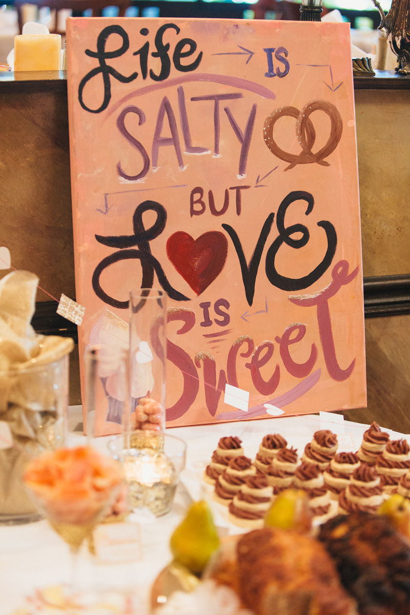 Pink and gold glitter bridal shower the majestic vision Cafe chardonnay palm beach gardens