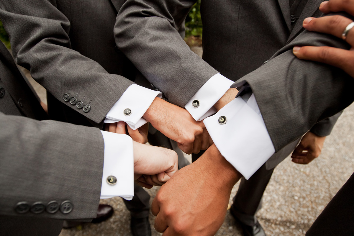 Personalized Groomsmen Cufflinks | The Majestic Vision Wedding Planning | Ann Norton Sculpture Garden in Palm Beach, FL | www.themajesticvision.com | Dove Wedding Photography