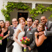 Romantic Garden Wedding Party Portrait at Ann Norton Sculpture Garden in Palm Beach, FL thumbnail