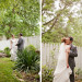 Romantic Garden First Look Portrait at Ann Norton Sculpture Garden in Palm Beach, FL thumbnail