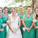 Gorgeous BCCG Hi Low Bridesmaid Dresses in Turquoise at Villas Mar Azure in Ponce, PR thumbnail