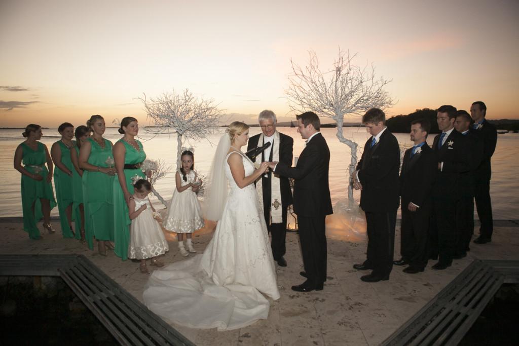 Elegant Waterfront Wedding Ceremony | The Majestic Vision Wedding Planning | Villas Mar Azure in Ponce, PR | www.themajesticvision.com | Shay Cochrane Photography