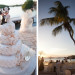 Elegant Wedding Cake with Starfish and Mickey Mouse Cake Topper at Villas Mar Azure in Ponce, PR thumbnail