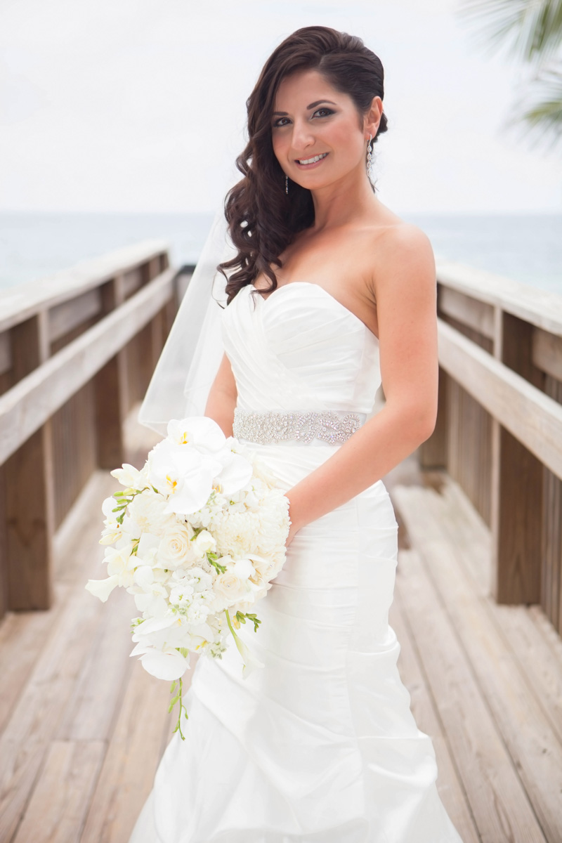 Classic White Orchid Bridal Bouquet | The Majestic Vision Wedding Planning | Palm Beach Lake Pavilion in Palm Beach, FL | www.themajesticvision.com | Emmanuel Gil Photography
