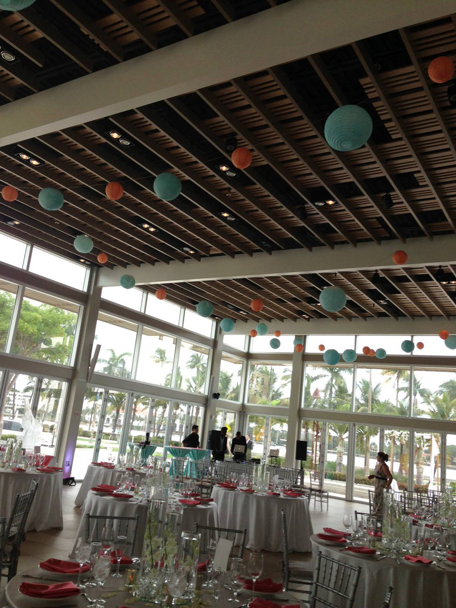 Clic Silver C And Blue Reception The Majestic Vision Wedding Planning Palm Beach
