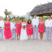 Laid-back Bridal Party Wearing Coral and Blue at Palm Beach Shores Community Center in Palm Beach, FL thumbnail