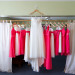 Flowy Wedding Gown with Coral Bridesmaid Dresses at Palm Beach Shores Community Center in Palm Beach, FL thumbnail