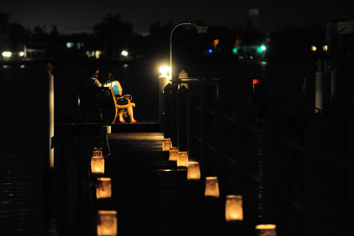 Romantic Nighttime Wedding Proposal