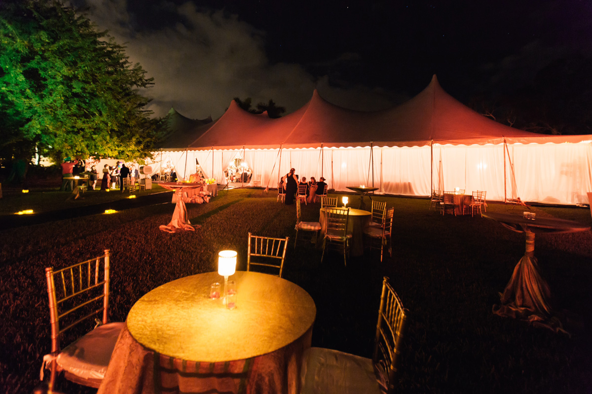 Elegant Tent Wedding Reception in the Lakeside Marquee | The Majestic Vision Wedding Planning | Fairchild Tropical Garden in Coral Gables, FL | www.themajesticvision.com | Robert Madrid Photography
