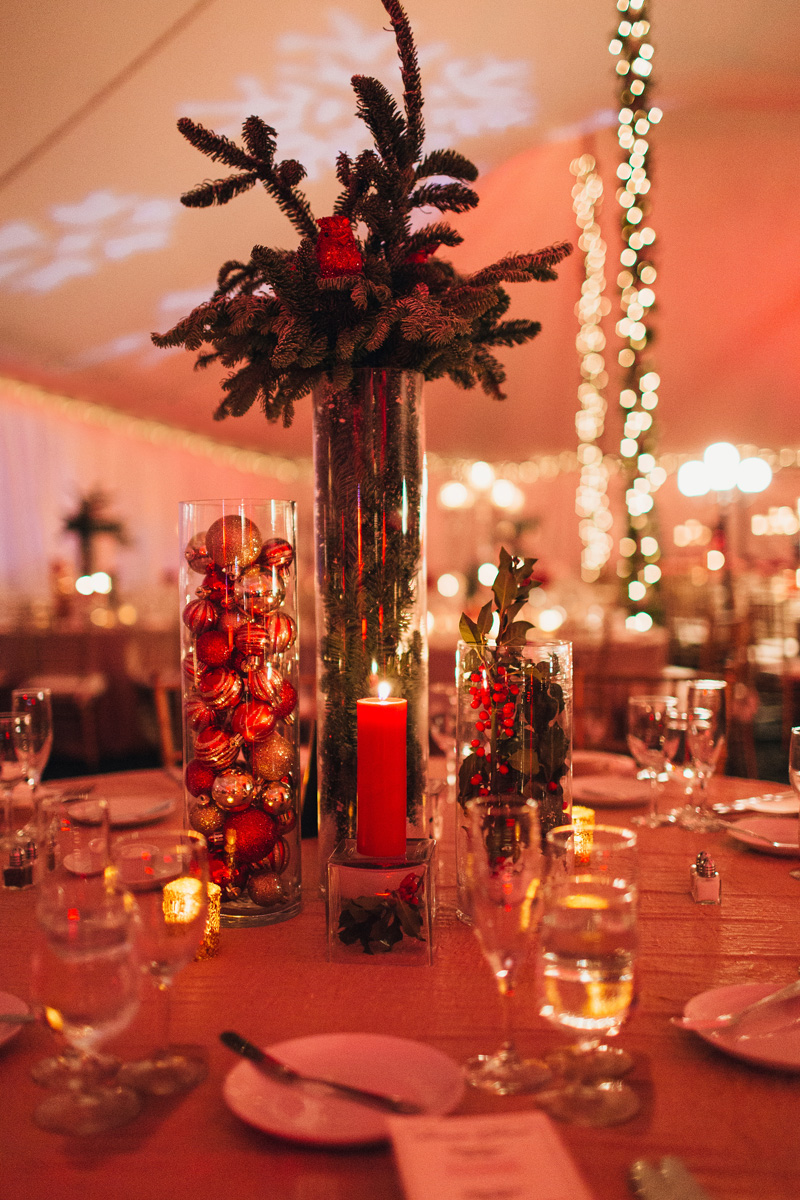 Elegant Christmas Themed Wedding with Deconstructed Christmas Tree Centerpiece | The Majestic Vision Wedding Planning | Fairchild Tropical Garden in Coral Gables, FL | www.themajesticvision.com | Robert Madrid Photography
