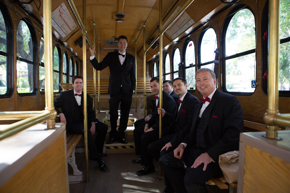 Bridal Party Trolley Transportation | The Majestic Vision Wedding Planning | Fairchild Tropical Garden in Coral Gables, FL | www.themajesticvision.com | Robert Madrid Photography
