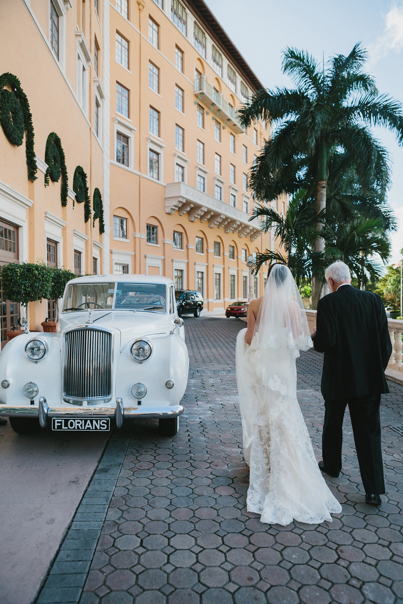 Vintage Rolls Royce Transportation for Bride | The Majestic Vision Wedding Planning | Fairchild Tropical Garden in Coral Gables, FL | www.themajesticvision.com | Robert Madrid Photography