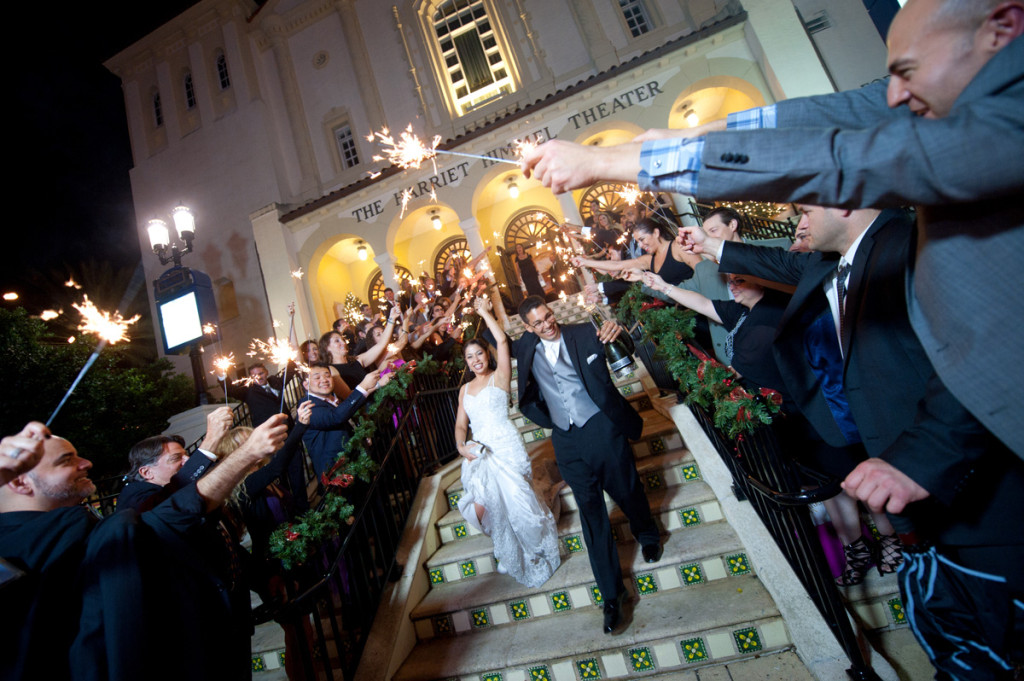 Sparkler Grand Exit | The Majestic Vision Wedding Planning |Harriet Himmel Theater in Palm Beach, FL | www.themajesticvision.com