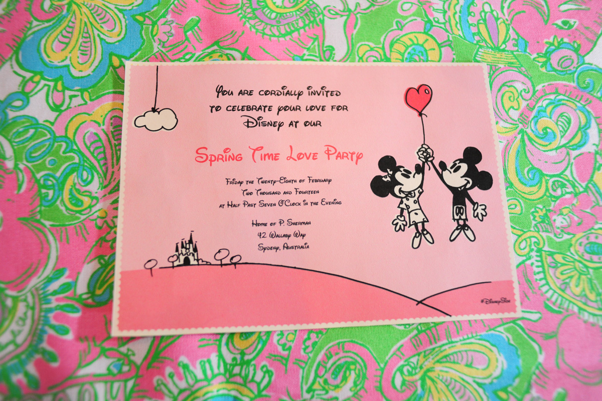 Pink and Green Disney Side Party Invitation | The Majestic Vision Wedding Planning | Palm Beach, FL | www.themajesticvision.com | Emily Allongo Photography