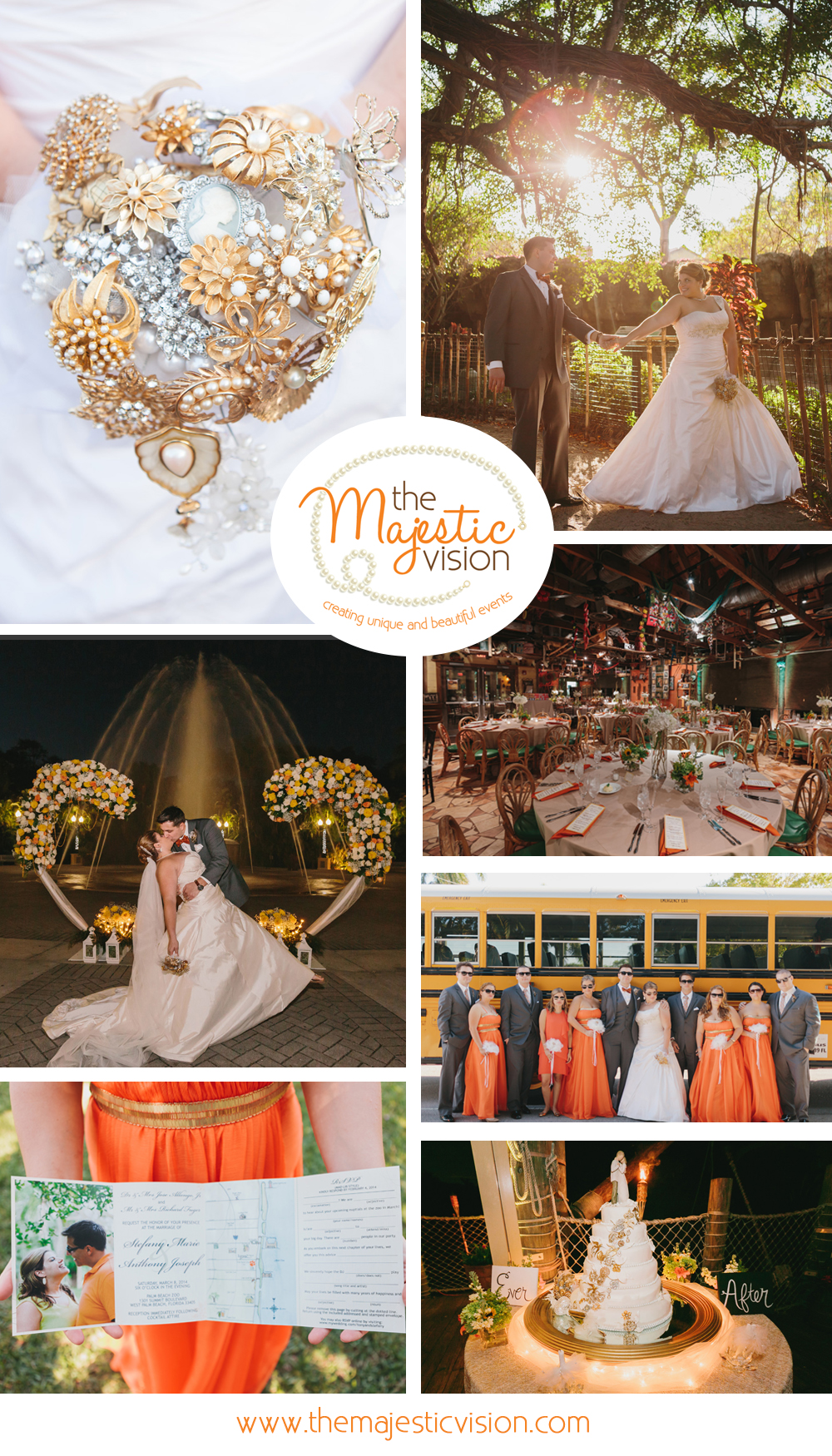 Elegant Zoo Wedding | The Majestic Vision Wedding Planning | Palm Beach Zoo in Palm Beach, FL | www.themajesticvision.com | Robert Madrid Photography