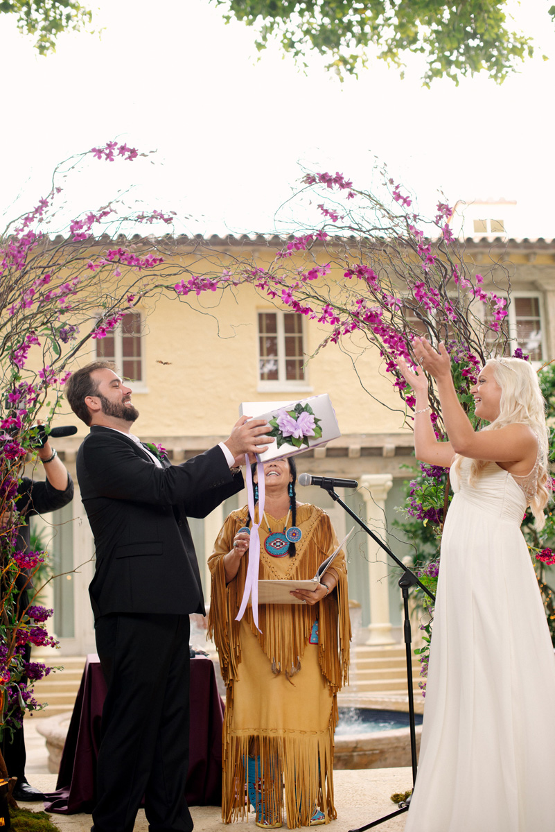 Romantic Butterfly Release for Elegant Wedding Ceremony | The Majestic Vision Wedding Planning | The Addison Boca in Palm Beach, FL | www.themajesticvision.com | Starfish Studios