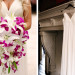 Stunning Cascade Bridal Bouquet with Purple Orchids and White Lillies at The Addison Boca in Palm Beach, FL thumbnail