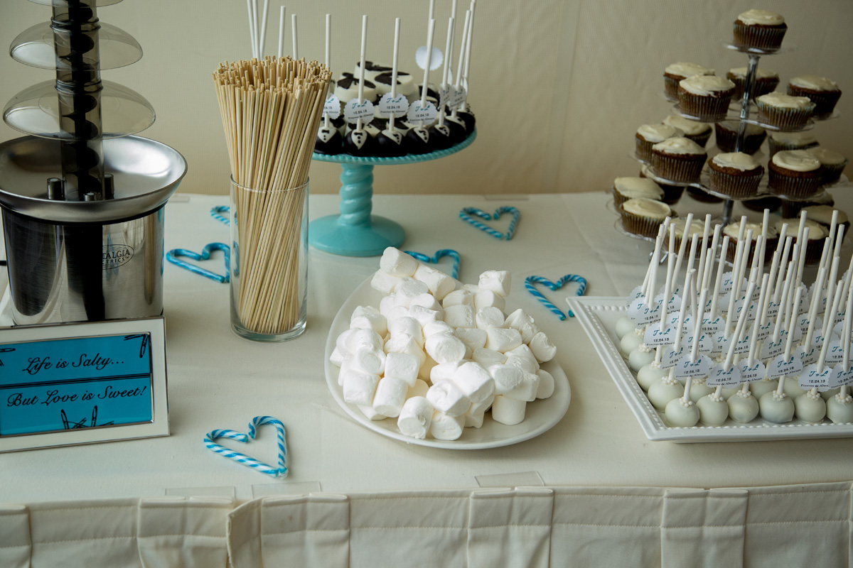 Fun Dessert Display with Cake Pops | The Majestic Vision Wedding Planning | Hilton Singer Island in Palm Beach, FL | www.themajesticvision.com | Michael Sterling Photography