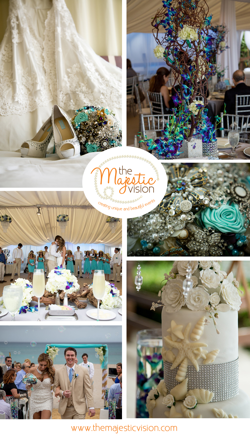 Elegant Beach Wedding | The Majestic Vision Wedding Planning | Hilton Singer Island in Palm Beach, FL | www.themajesticvision.com | Michael Sterling Photography