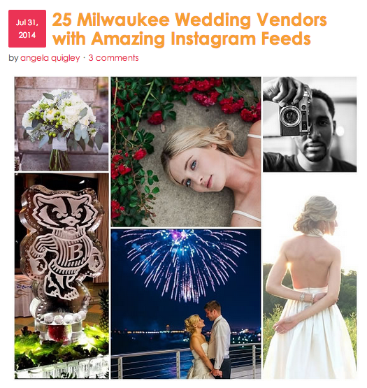 Milwaukee Wedding Vendors with Amazing Instagram Feeds on Married in Milwaukee | The Majestic Vision Wedding Planning | Milwaukee, WI | www.themajesticvision.com