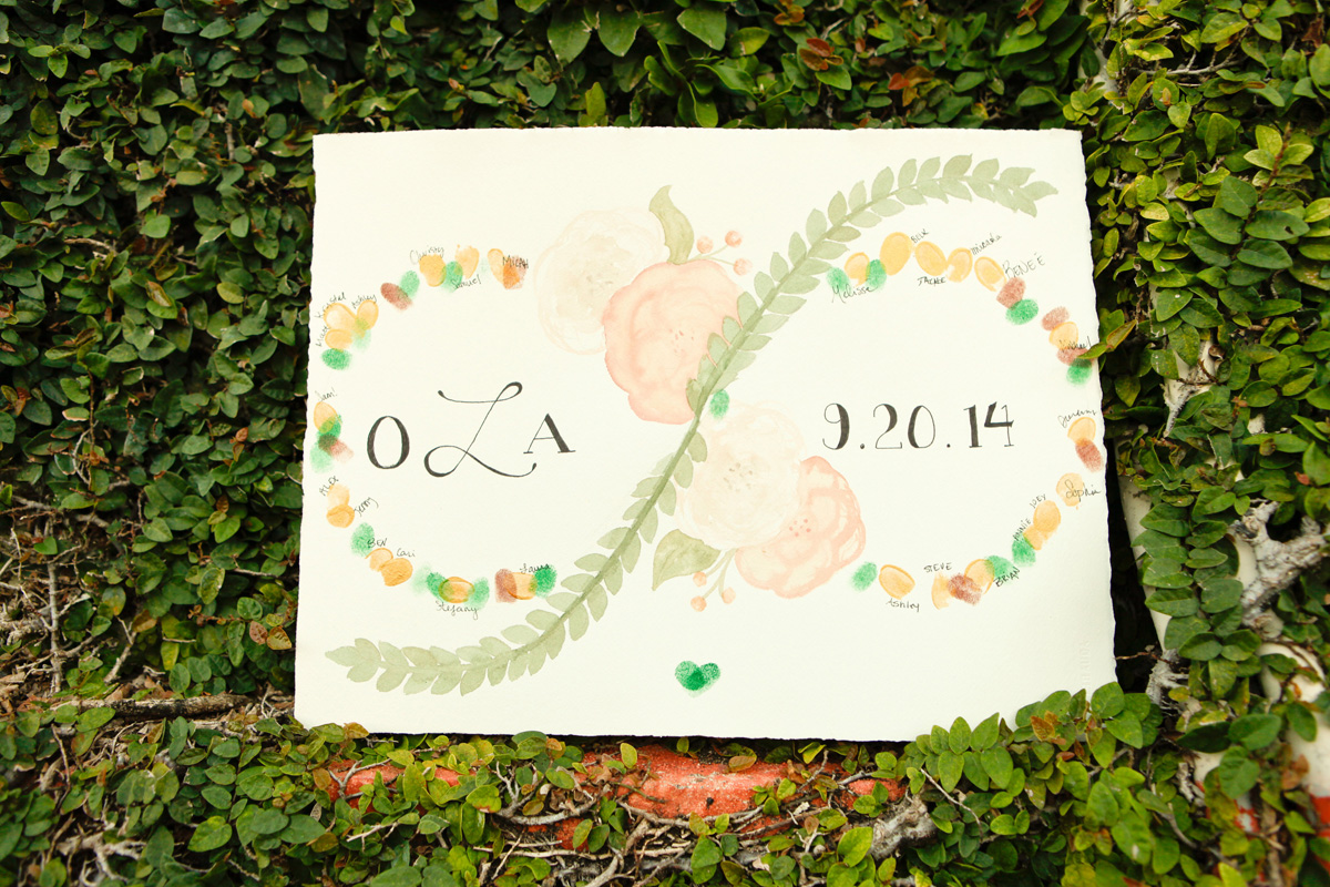 Unique Infinity Symbol Thumbprint Guestbook | The Majestic Vision Wedding Planning | International Polo Club in Palm Beach, FL | www.themajesticvision.com | Krystal Zaskey Photography