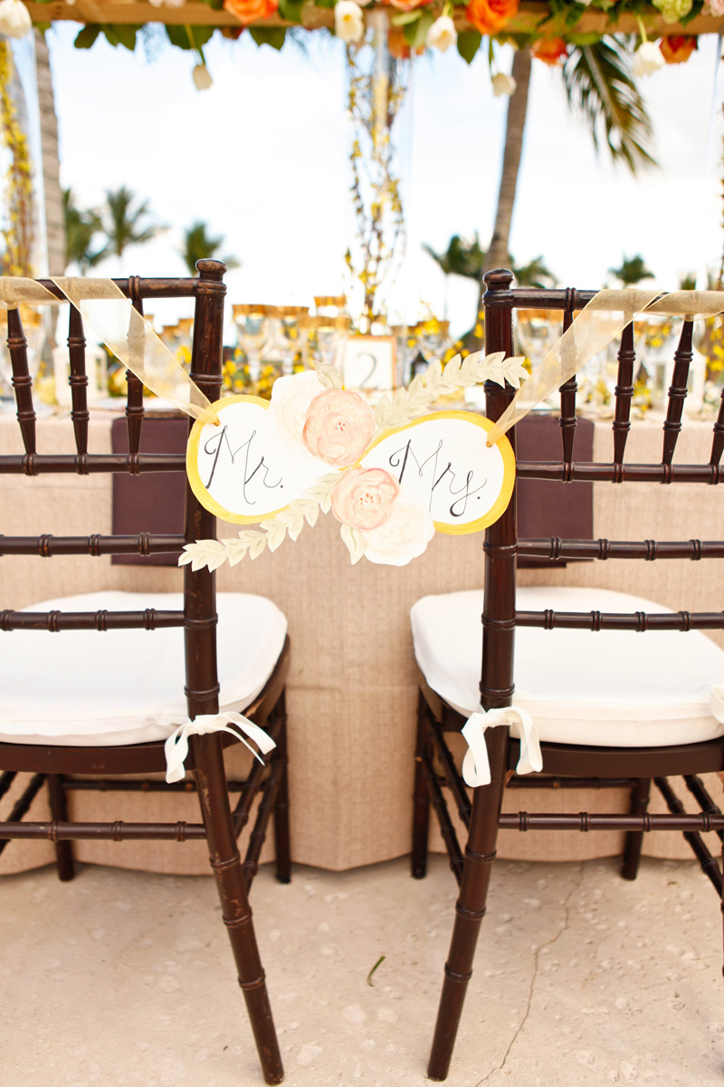 Unique Infinity Symbol Mr and Mrs Chair Sign | The Majestic Vision Wedding Planning | International Polo Club in Palm Beach, FL | www.themajesticvision.com | Krystal Zaskey Photography