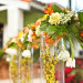 Elegant Orange and Gold Tablescape at International Polo Club in Palm Beach, FL thumbnail