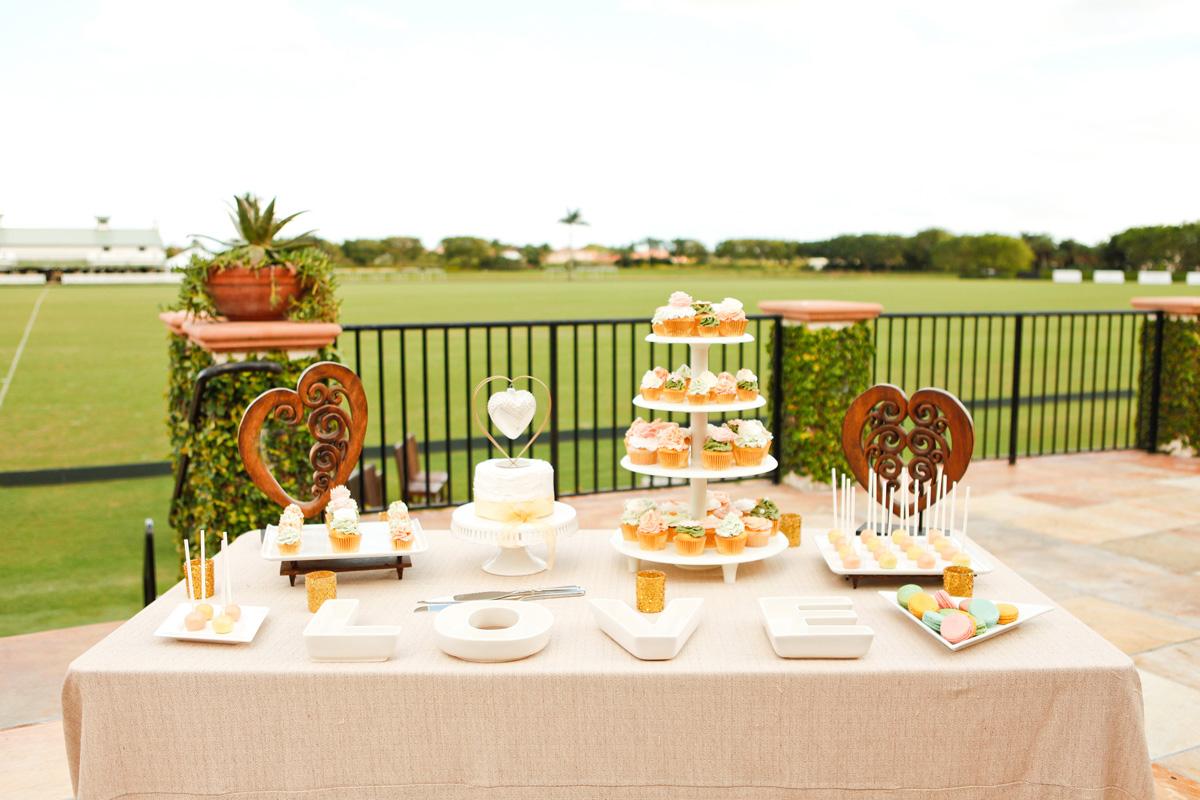 Elegant Dessert Display on the Polo Fields | The Majestic Vision Wedding Planning | International Polo Club in Palm Beach, FL | www.themajesticvision.com | Krystal Zaskey Photography