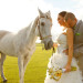 Romantic Bridal Portrait with Horse at International Polo Club in Palm Beach, FL thumbnail