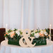 Modern Centerpieces with White Roses and Orange Roses at Marriott Singer Island in Palm Beach, FL thumbnail