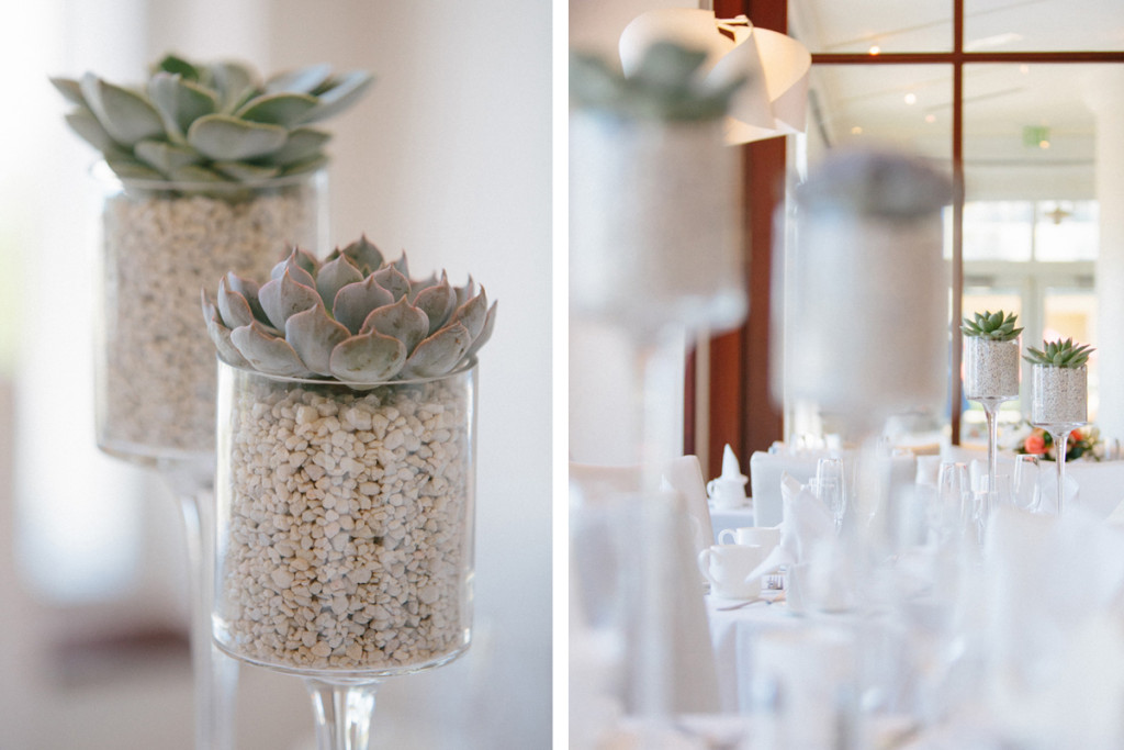 Modern Centerpieces with Succulents | The Majestic Vision Wedding Planning | Marriott Singer Island in Palm Beach, FL | www.themajesticvision.com | Robert Madrid Photography