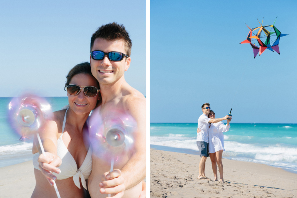 Fun Bridal Portrait on the Beach while Flying a Kite | The Majestic Vision Wedding Planning | Marriott Singer Island in Palm Beach, FL | www.themajesticvision.com | Robert Madrid Photography