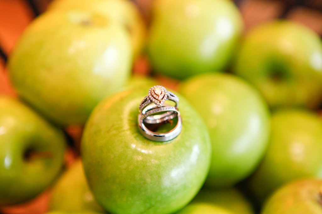 Lovely Wedding Rings on Green Apple | The Majestic Vision Wedding Planning | 32 East in Palm Beach, FL | www.themajesticvision.com | Krystal Zaskey Photography