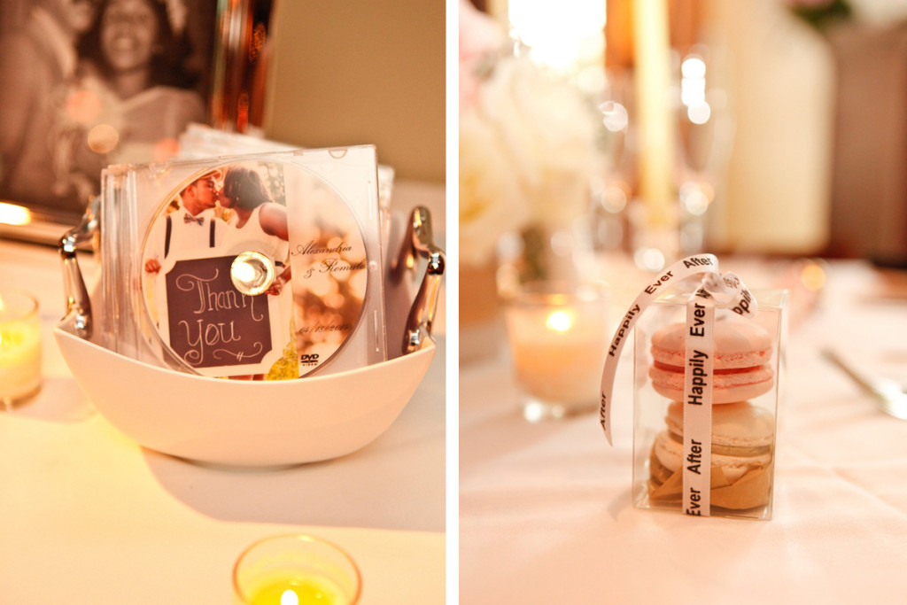 Blush and Cream Macaron Guest Favor | The Majestic Vision Wedding Planning | 32 East in Palm Beach, FL | www.themajesticvision.com | Krystal Zaskey Photography