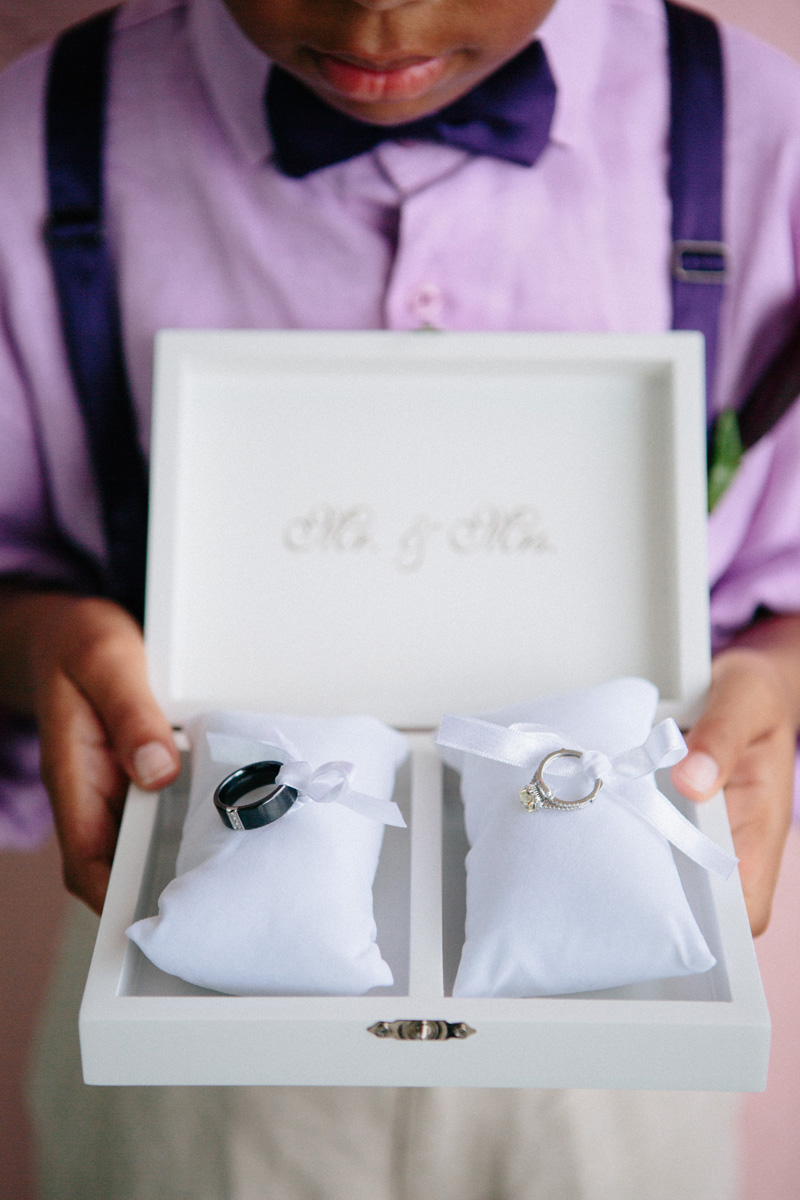 Elegant Ring Bearer Box | The Majestic Vision Wedding Planning | Sailfish Marina in Palm Beach, FL | www.themajesticvision.com | Robert Madrid Photography
