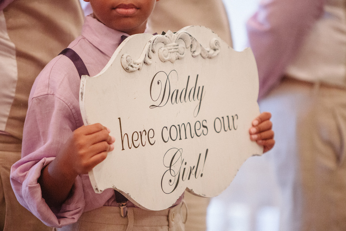Elegant Ring Bearer Sign | The Majestic Vision Wedding Planning | Sailfish Marina in Palm Beach, FL | www.themajesticvision.com | Robert Madrid Photography