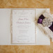 Elegant Purple and Lace Wedding Invitation at Sailfish Marina in Palm Beach, FL thumbnail