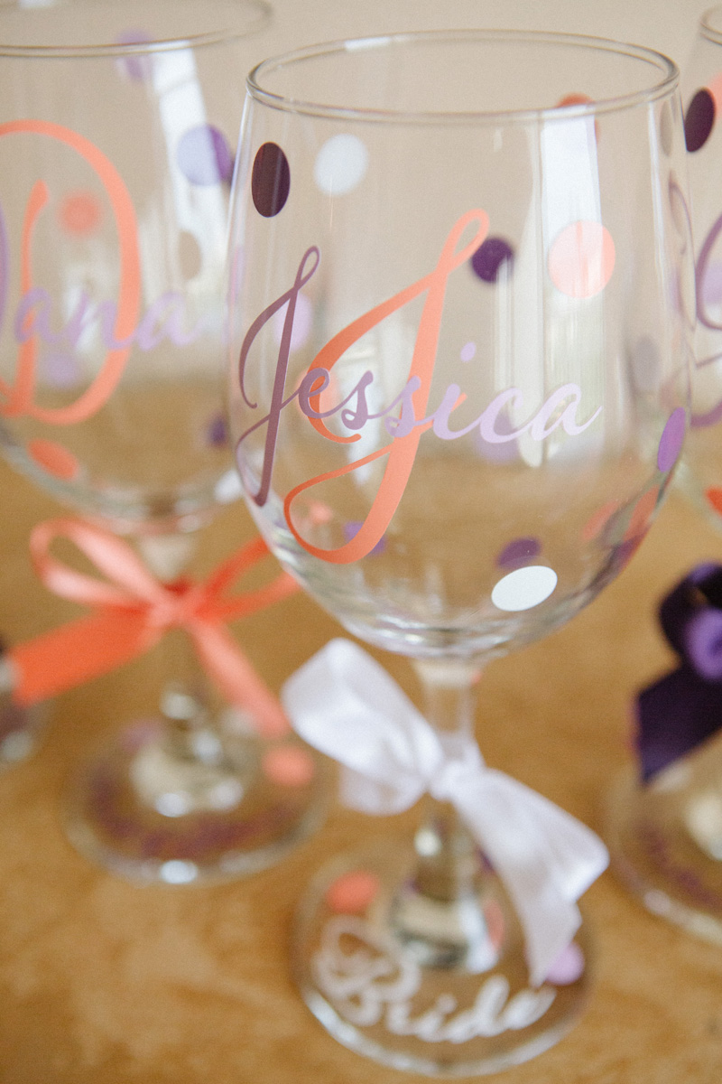 Elegant Personalized Bride Wine Glass | The Majestic Vision Wedding Planning | Sailfish Marina in Palm Beach, FL | www.themajesticvision.com | Robert Madrid Photography