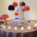 Elegant Wedding Cake with Purple Roses and Coral Roses at Sailfish Marina in Palm Beach, FL thumbnail