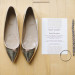 Elegant Gold Flat Wedding Shoes at Pritzlaff Building in Milwaukee, WI thumbnail