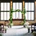 Elegant Wedding Ceremony with Garland Arch and Baby's Breath at Pritzlaff Building in Milwaukee, WI thumbnail