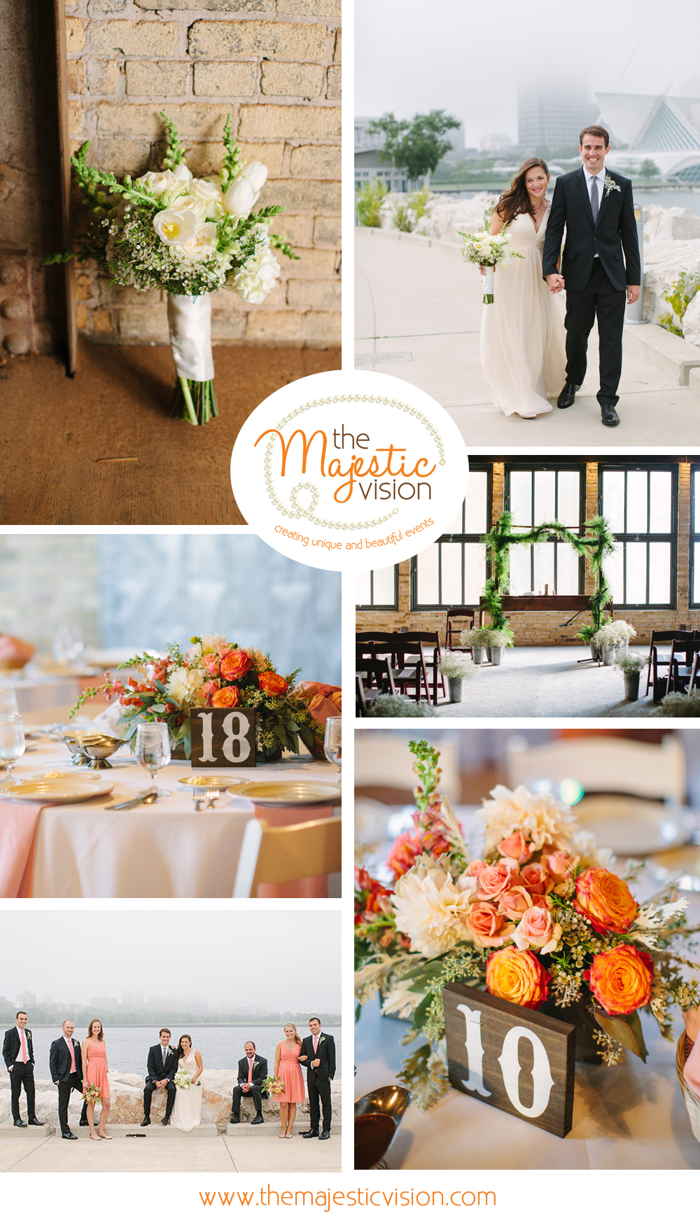 Elegant Blush, Coral and Cream Wedding | The Majestic Vision Wedding Planning | Pritzlaff Building in Milwaukee, WI | www.themajesticvision.com | Lisa Mathewson Photography