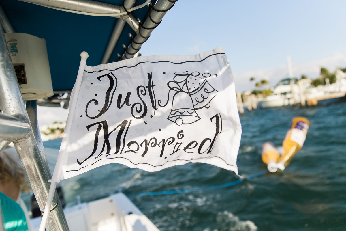 Post-Wedding Ceremony Boat Ride   The Majestic Vision Wedding Planning   Sailfish Marina in Palm Beach, FL   www.themajesticvision.com   Chris Kruger Photography