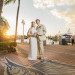 Sunset Bridal Portrait on the Dock at Sailfish Marina in Palm Beach, FL thumbnail