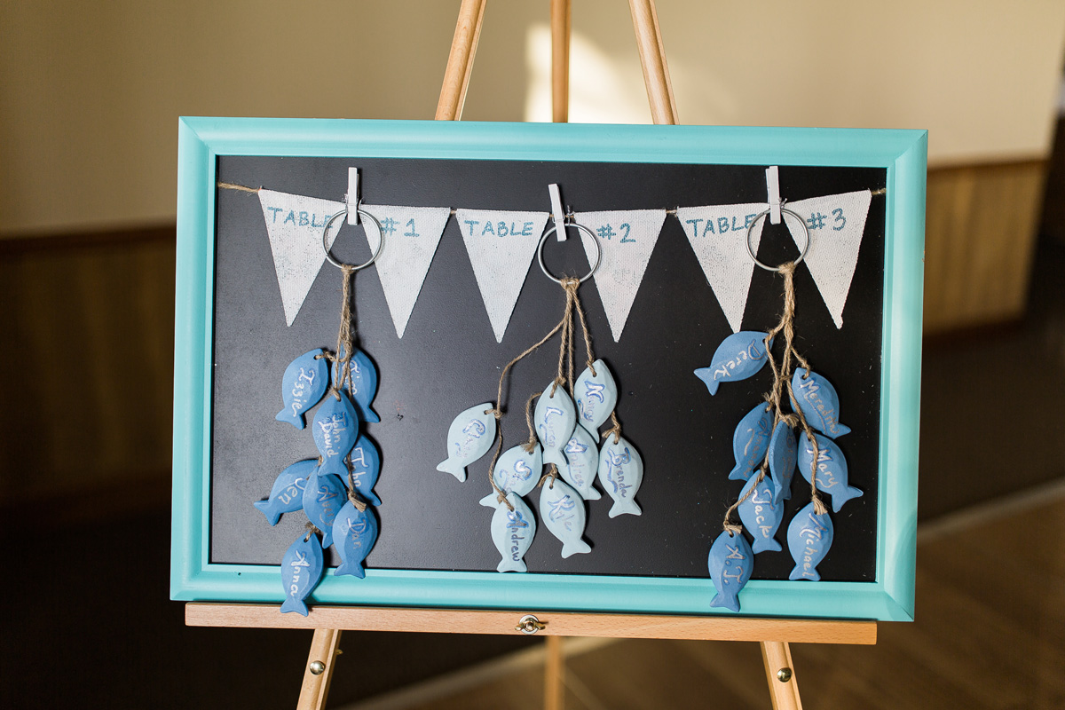 Fish Escort Card Display | The Majestic Vision Wedding Planning | Sailfish Marina in Palm Beach, FL | www.themajesticvision.com | Chris Kruger Photography