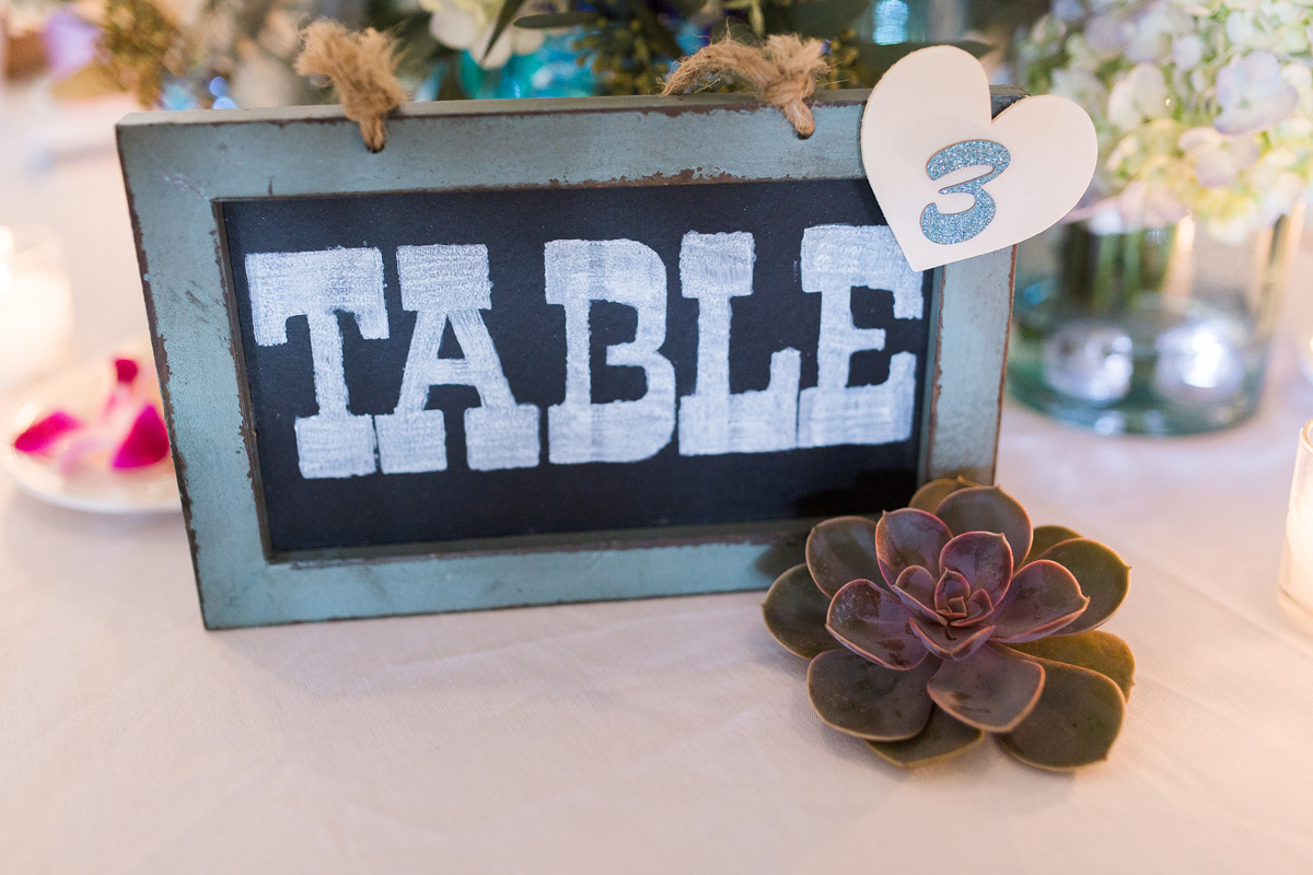 Elegant Table Number with Succulent | The Majestic Vision Wedding Planning | Sailfish Marina in Palm Beach, FL | www.themajesticvision.com | Chris Kruger Photography