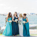 Elegant Bridal Party in Shades of Blue at Sailfish Marina in Palm Beach, FL thumbnail