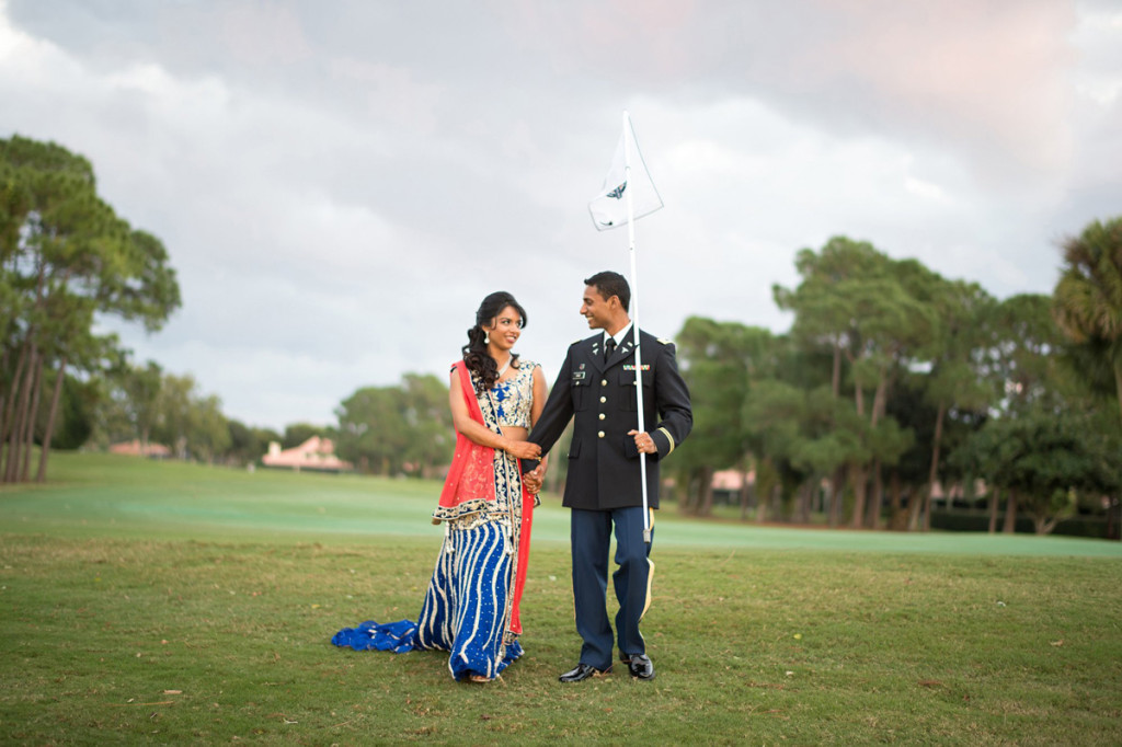 Elegant Bridal Portrait on Golf Course | The Majestic Vision Wedding Planning | PGA National in Palm Beach, FL | www.themajesticvision.com | Haring Photography
