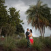 Elegant Bridal Portrait Under Palm Trees at PGA National in Palm Beach, FL thumbnail