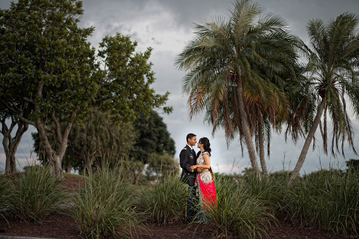 Elegant Bridal Portrait Under Palm Trees | The Majestic Vision Wedding Planning | PGA National in Palm Beach, FL | www.themajesticvision.com | Haring Photography